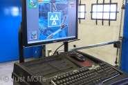 An image of a MOT test computer at Just MOTs of Milton Keynes